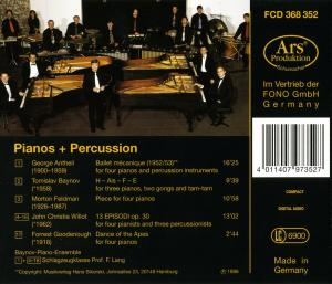 Pianos und Percussion - EAN 4011407973527 - Backcover
